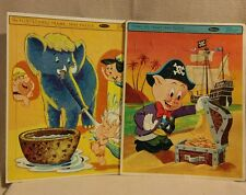 Whitman Flintstones and Porky Pig Puzzle Trays 1960's