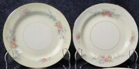 "TWO Homer Laughlin Eggshell Nautilus Ferndale Bread Plates 6 1/8"" Set of 2 NICE"