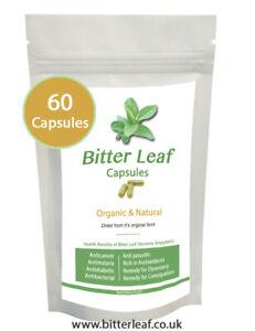 Bitter Leaf Capsules 750mg - 60 Capsules 100% Organic  VEGAN - SEE VIDEO