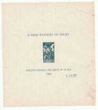 Splendido foglietto francobolli corpo polacco italiano prova di stampa? 3 + 247