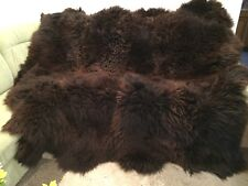 8er Fur Braun Sheepskin Carpet Mat Fireplace IN Mint Condition
