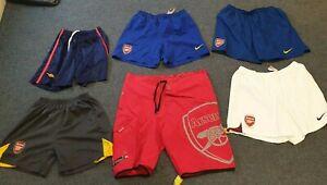 Arsenal Football Shorts x 6 Pairs Retro USED Good Condition (W3)