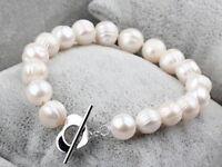 9-10mm weiß kultivierten Süßwasser Perle Armband 20CM