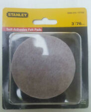 New Stanley Felt Furniture Pads 3 Inch Round Heavy Duty Adhesive Back 4 Pk HD