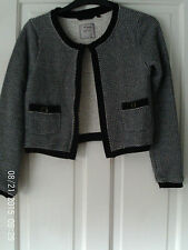NAVY AND GREY  LONG SLEEVED CARDIGAN BY NEXT 12
