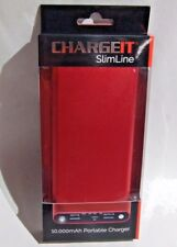 ChargeIt 10000 mAh Slimline Power Bank Phone charger charges Phones./ Tablets/