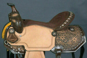 WILDRACE Leather Western Barrel Racing Pleasure/Trail Horse Riding Saddle Tack