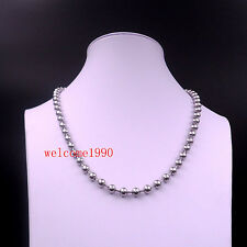 on sale jewelry Stainless Steel Shiny Ball beaded chain Link Necklace 6mm 23.6''