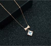 Damen Gold 18K Halskette mit Anhänger Collier Geschenk Zirkonia vergoldet 34€