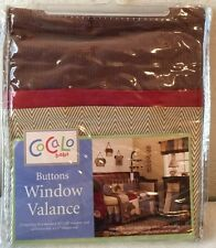 CoCaLo Baby Buttons Window Valance