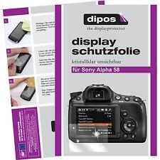 6x dipos Sony Alpha 58 / SLT 58 Schutzfolie klar Displayschutzfolie unsichtbar