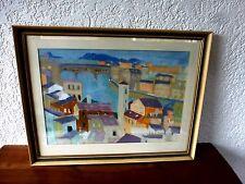 """Gemälde Ölfarben Florenz """"Ponte Vecchio und Arno"""" aus Nachlass in Mainz Abholung"""
