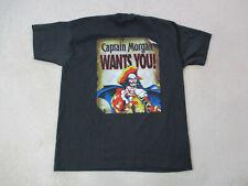 VINTAGE Captain Morgan Shirt Adult Extra Large Black Red Beer Pirate Mens 90s