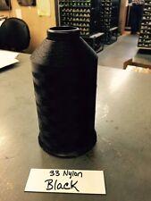 Bonded Nylon Thread 33 Black 8oz spool