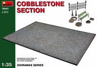 Miniart 36043 Cobblestone Section Scale Plastic Model Kit 1/35