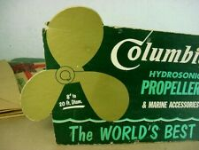 Rare 1950s Vintage Columbian Boat Motor Hydrosonic Propellers Oid Store Sign