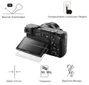 Sony A6400 0,4 mm Adhäsion Displayschutzglas Schutzfolie LC7679