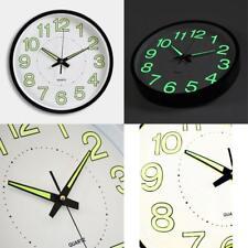 Large Non-Ticking Wall Clock Glow In The Dark Silent Quartz Indoor/Outdoor white