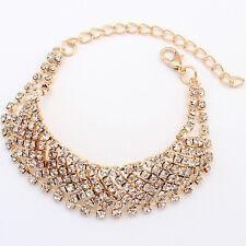 Stylish Women Bling Rhinestone Wristband Bling Hand Chain Bangle Bracelet  New