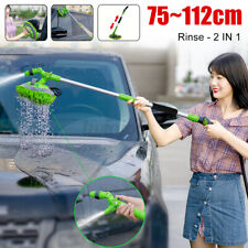 2in1 Adjustable Telescopic Brush Car Wash Mop Long Handle Vehicle Cleaning  !X