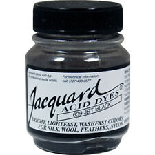 Jacquard Acid Wool Dye #639 JET BLACK .5oz Powder for Coloring Silk and Nylon