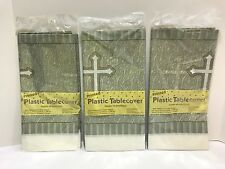 Creative Converting Plastic Banquet Table Cover, Silver Devotion Cross Set of 3