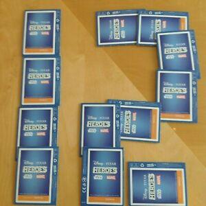 SAINSBURY.S HEROES DISNEY PIXAR STAR WARS MARVEL CARDS 12 PACKS NEW UNOPENED