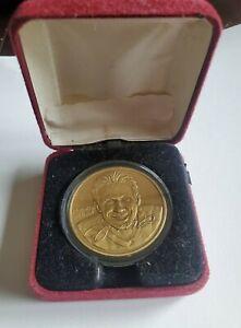 Joe Montana 1995  Fine Bronze Coin  Highland Mint NFL- NO RESERVE  Limited Ed.