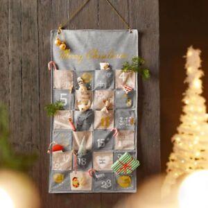 Adventskalender Merry Christmas Weihnachtskalender mit Taschen zum Befüllen