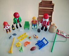 PLAYMOBIL Figures / People Lot ~ Dad and Kids With Santa & Toys