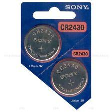 2 NEW SONY CR2430 3V Lithium Coin Battery Expire 2027 FRESHLY NEW - USA Seller
