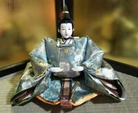 Vintage Japanese doll Samurai sword emperor  Lord in Kimono EXCELLENT Blue