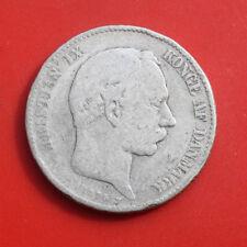 Dänemark-Denmark: 2 Kroner 1875 Silber, KM# 798, S-F, #F 2633