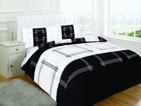 Luxury Campus Black Design Duvet Cover Set Bedding with Pillowcase Set Bed Cover