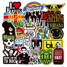 Rock Band 100 Stickers Lot Punk Music Heavy Metal Bands Sticker Decal