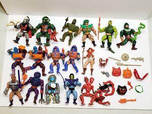 Vintage MOTU He Man Masters Universe Lot of 16 Figures W/ Weapons Accessories