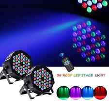 2X 72W 36 LED RGB Bühnenbeleuchtung PAR Can DMX Bar DJ Show Hochzeit Party Licht