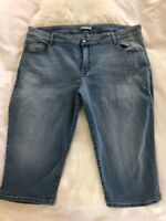 Riders By Lee Size 26 Mid Rise Capri Jeans Stretch Cotton Cropped Pants Light