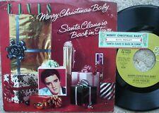 Elvis Presley - Merry Christmas Baby  Santa Claus Is Back In Town 45 + Juke slip