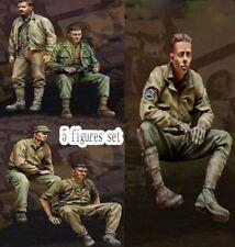 █ 1/35 Resin US Tank Crew Fury 5 Figures Set Unpainted unassembled BL238