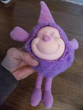 "Vtg Rare Rainbow Brite Purple ""Iq"" Sprite 7"" Plush Rubber 1980s Hallmark Mattel"