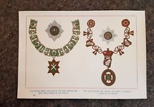 19th century Colour Lithograph MEDALS