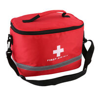 Sports Camping Home Medical Emergency Survival First Aid Kit Bag Outdoors Red