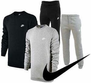 Nike Club Crewneck Mens Full Tracksuit Top Joggers Jumper Bottoms Sweatshirt New