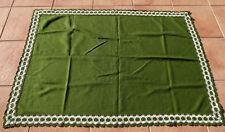 TOVAGLIA 70 egli tessuti verde con pizzo sul bordo ca. 154 x 104 cm stile country