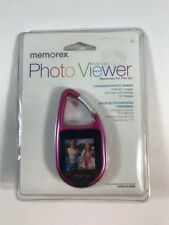 "Memorex Photo Viewer Pink 2MB Carabiner Holds 50+ Photos 1.5"" Display"