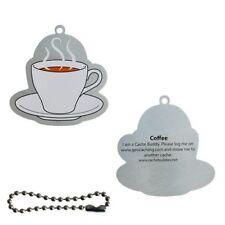 Coffee TravelTag Trackable Travelbug Geocoin Geocaching Kaffee Tasse Pause