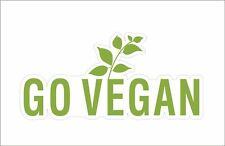 Go Vegan Green Tree Vinyl Hard Hat Sticker Decal Funny Motorbike Car LaptopDecor