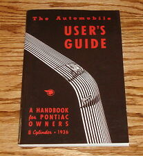 1936 Pontiac 8 Cylinder Owners Manual Users Guide 36 Handbook