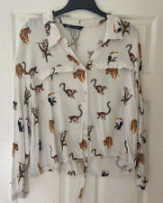 ZARA Animal Monkey Print Shirt - Size XL